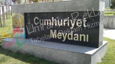 Granit Üzeri Krom Harf Ataşehir