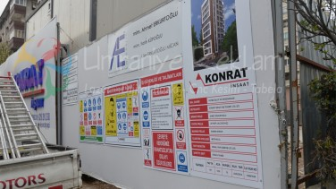 inşaat iş güvenlik tabela
