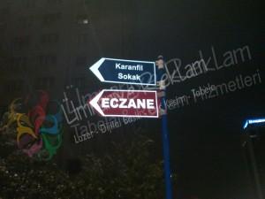 yön sokak levhası ataşehir